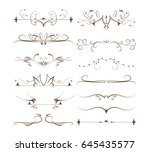 ornamental dividers set. | Shutterstock . vector #645435577