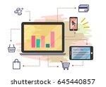 business strategy technology... | Shutterstock .eps vector #645440857