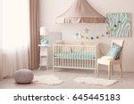 modern interior design of baby... | Shutterstock . vector #645445183