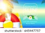 sea vacation. summer blur... | Shutterstock .eps vector #645447757