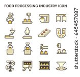 food processing industry and... | Shutterstock .eps vector #645457087