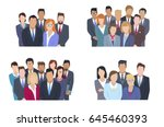 business team vector concepts... | Shutterstock .eps vector #645460393