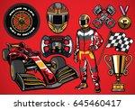 set of high detailed formula...   Shutterstock .eps vector #645460417
