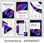 abstract vector layout... | Shutterstock .eps vector #645460447