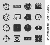 countdown icons set. set of 16... | Shutterstock .eps vector #645466597