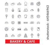 bakery  cake   pastry  cookies  ... | Shutterstock .eps vector #645466963