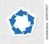 vector flat sticker circle... | Shutterstock .eps vector #645472417