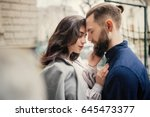 young couple in love  hugging... | Shutterstock . vector #645473377
