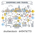 vector illustration of city... | Shutterstock .eps vector #645476773