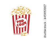 Popcorn Box Isolated On White....