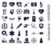 medical icons set. set of 36... | Shutterstock .eps vector #645500503