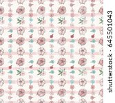 exotic colorful flowers set | Shutterstock .eps vector #645501043