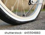 Closeup View Of Bicycle Flat...
