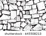 vector bricks and stones... | Shutterstock .eps vector #645508213