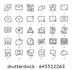 vector set of message bubbles... | Shutterstock .eps vector #645512263