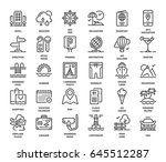 vector set of travel and... | Shutterstock .eps vector #645512287