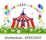 circus illustration for design... | Shutterstock .eps vector #645512437