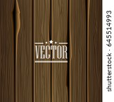 wood texture vector background. ... | Shutterstock .eps vector #645514993