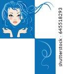 hair fashion | Shutterstock .eps vector #645518293