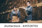 box making at a paper factory...   Shutterstock . vector #645528703