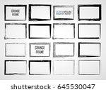 vector frames. rectangles for... | Shutterstock .eps vector #645530047