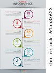 infographic business vertical... | Shutterstock .eps vector #645533623