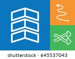 set of 3 arrows outline icons | Shutterstock .eps vector #645537043