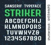 sanserif font in sport style.... | Shutterstock .eps vector #645544693