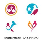 community  network and social... | Shutterstock .eps vector #645544897