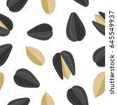 sunflower seeds seamless...   Shutterstock . vector #645549937