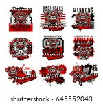 a set of vector illustrations... | Shutterstock .eps vector #645552043