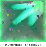 arrow icon texture | Shutterstock .eps vector #645555187