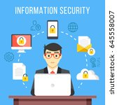 information security  data... | Shutterstock .eps vector #645558007