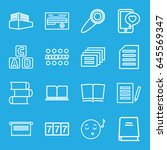 text icons set. set of 16 text... | Shutterstock .eps vector #645569347