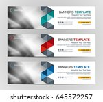 abstract web banner design... | Shutterstock .eps vector #645572257