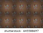 seamless pattern with floral... | Shutterstock . vector #645588697