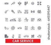car service  mechanic  engine ... | Shutterstock .eps vector #645595447