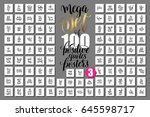 mega set of 100 positive quotes ... | Shutterstock . vector #645598717