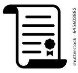diploma vector icon   Shutterstock .eps vector #645603883
