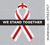 we stand together with... | Shutterstock .eps vector #645611917