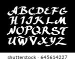 graphic font for your design.... | Shutterstock .eps vector #645614227
