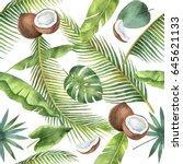 watercolor seamless pattern of...   Shutterstock . vector #645621133