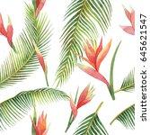 watercolor seamless pattern of... | Shutterstock . vector #645621547
