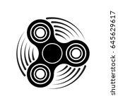 hand fidget spinner toy icon  ... | Shutterstock .eps vector #645629617