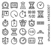 minute icons set. set of 25...   Shutterstock .eps vector #645630307