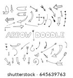 doodle collection arrows | Shutterstock .eps vector #645639763