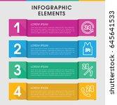 modern 24 infographic template. ... | Shutterstock .eps vector #645641533