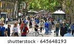 barcelona  spain   may 22  2017 ... | Shutterstock . vector #645648193