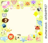 animal faces frame | Shutterstock .eps vector #645649927