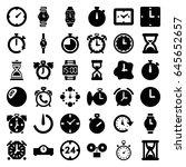 timer icons set. set of 36... | Shutterstock .eps vector #645652657
